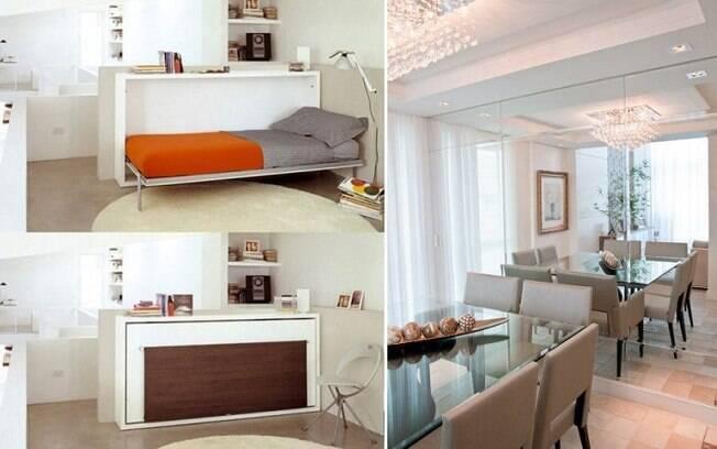 Em um apartamento pequeno, alguns artifícios podem torná-lo mais organizado e ainda fazer com que ele pareça maior