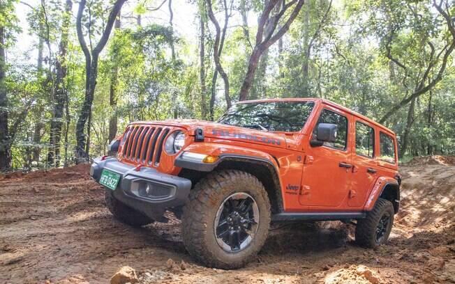 Jeep Wrangler que avaliamos rapidamente durante evento da marca norte-americana no Brasil