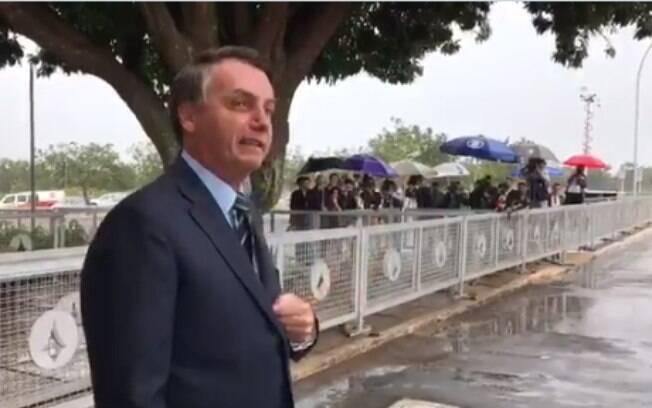 Presidente questionou se jornalistas