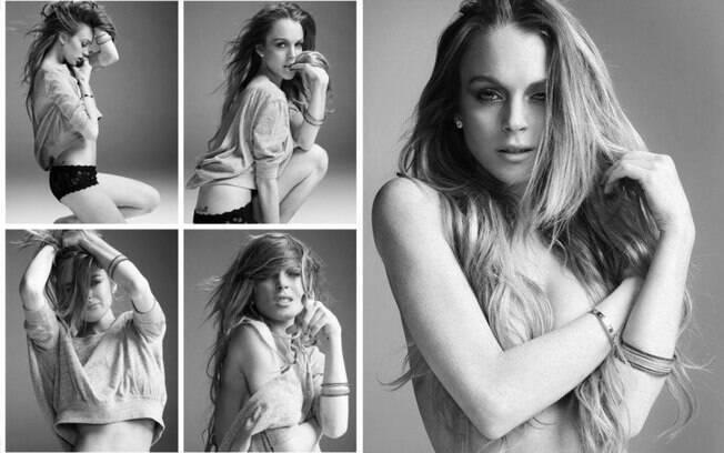 Lindsay Lohan em ensaio no início do ano para o amigo Mike Rosenthal