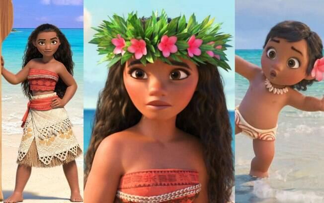 Personagem Moana encantou meninas de todo o mundo e pode servir de inspiração tanto para mais velhas quanto bebês