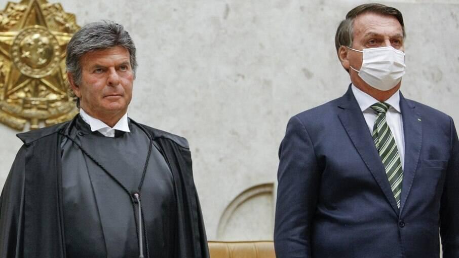 Luiz Fux, presidente do STF, reagiu a declaração de Bolsonaro sem citar o nome do presidente
