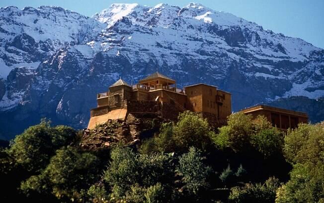 Kasbah du Toubkal, em Marrocos, fica no alto de uma montanha e possui apenas oito quartos, muito procurados pelos amantes de alpinismo