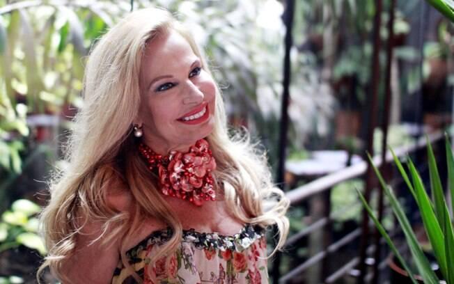 Brunete Fraccaroli preparada para mais um dia de gravações
