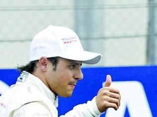 Massa comemorou muito o resultado do treino desse sábado