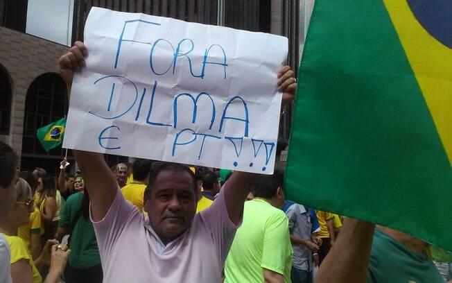 Protestantes pedem a saída da presidente Dilma Rousseff. Foto: David Shalom/iG São Paulo