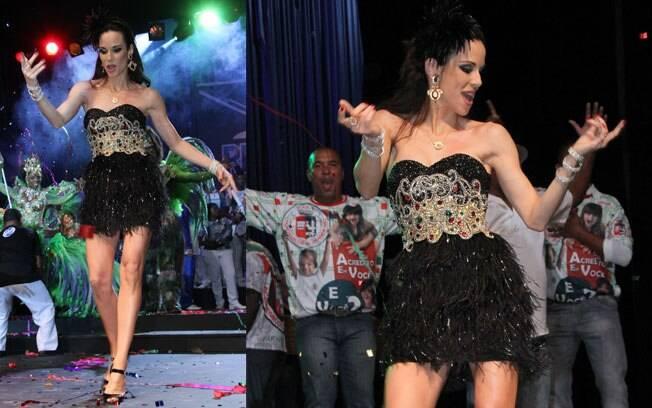 O samba no pé da apresentadora Ana Furtado