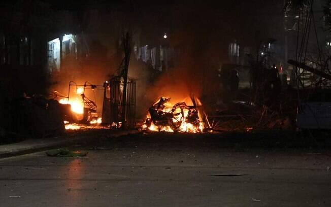 Alvo do caminhão-bomba era um hotel localizado na região central da cidade