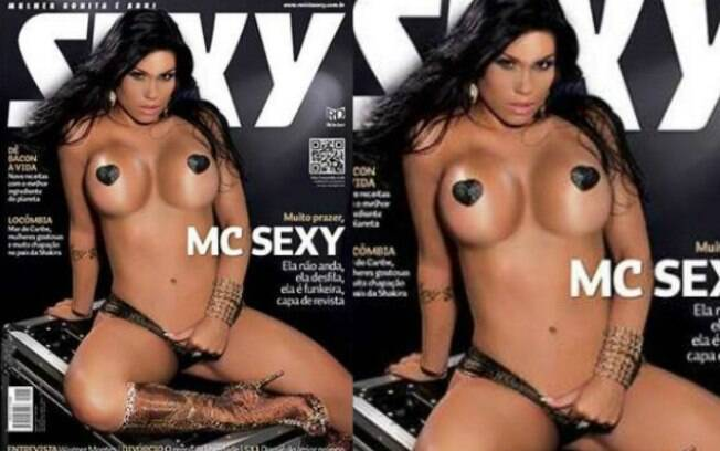 No mesmo mês, a funkeira MC Sexy, foi capa da Sexy