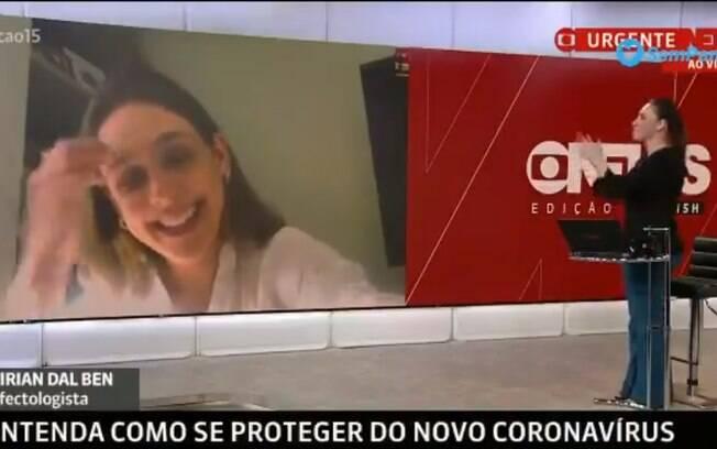 Entrevista ao vivo em jornal da GloboNews é interrompida por criança