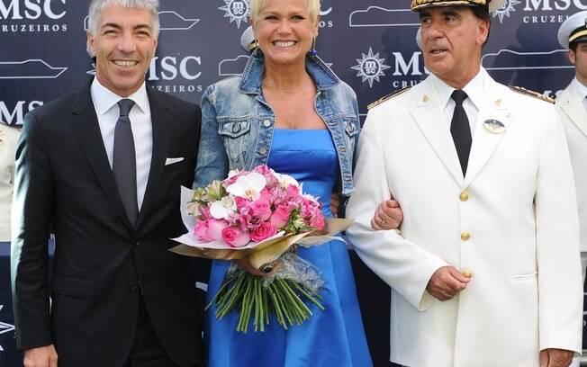 Xuxa inaugura cruzeiro no Porto de Santos