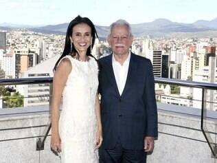 Confiança. A vice-presidente Maria Cristina Valle, há 29 anos na construtora, com o presidente e fundador da Caparaó, Ney Moreira Bruzzi