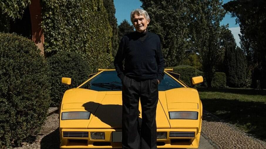 Marcello Gandini e a sua obra mais famosa, o Lamborghini Countach