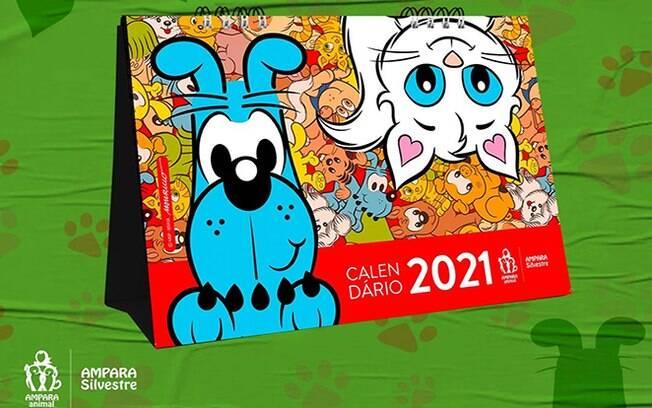O calendário foi ilustrado com o universo da Turma da Mônica