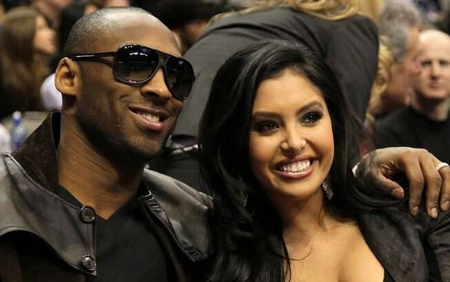 Kobe Bryant e sua mulher Vanessa