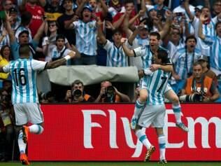 PORTO ALEGRE, RS, BRASIL, 25.06.14: Jogo entre Argentina x Nigéria, em Porto Alegre pela Copa do Mundo.   Foto: Camila Domingues/Palácio Piratini