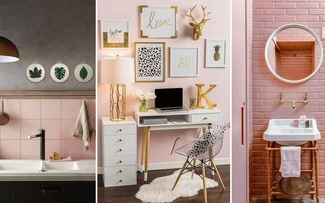 Dependendo do tom de rosa, ele pode sim ser utilizado até em cozinhas e banheiros, principalmente combinado com metais