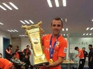 Walter Montillo comemorou muito a conquista da Copa da China pelo Shandong Luneng