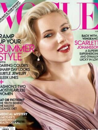 Scarlett é a capa do mês de maio da revista