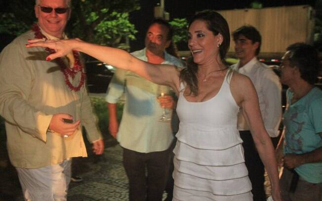 Christiane Torloni comemorou seu aniversário com alguns dias de atraso