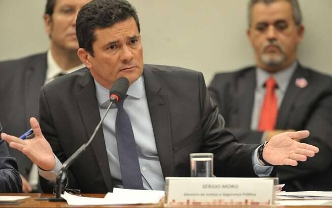 Sergio Moro durante audiência na CCJ da Câmara dos Deputados