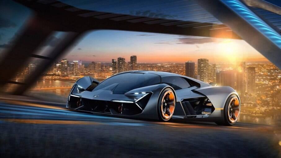 O carro-conceito Terzo Millennio será a base do primeiro modelo totalmente elétrico da Lamborghini