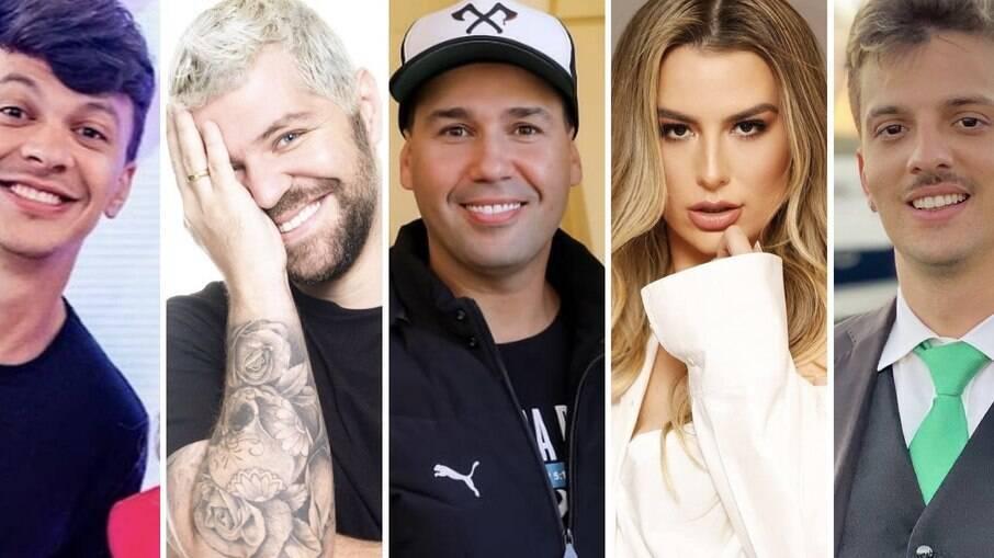 Júlio Cocielo, Victor Sarro, Viny Vieira, Fernanda Keulla e Caio Pericinoto