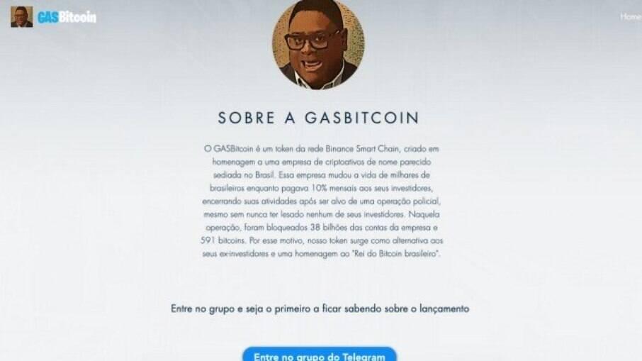 Gasbitcoin: Nome do 'faraó dos bitcoins' é usado para nova criptomoeda