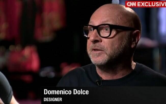 Domenico Dolce fala à rede CNN