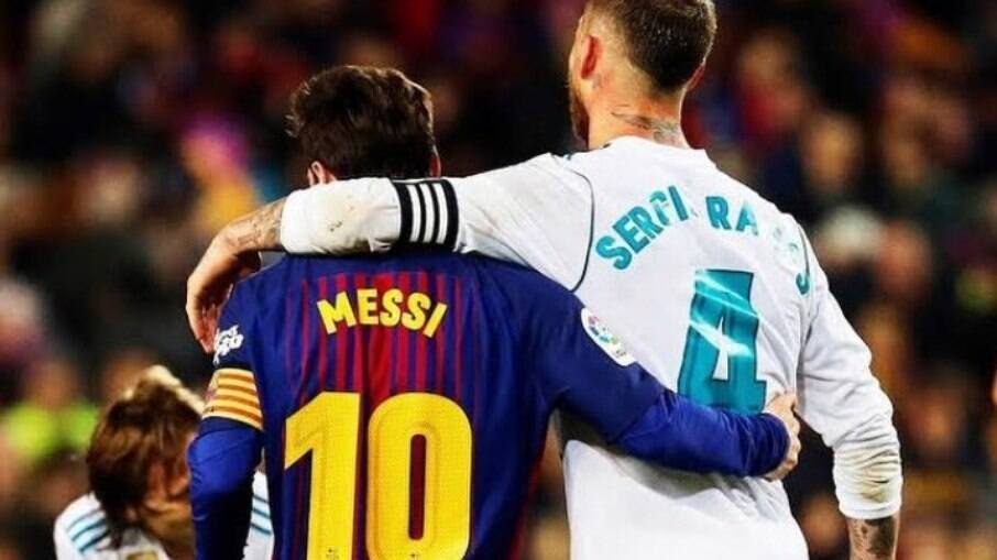 Antes rivais, agora Ramos e Messi são companheiros de time