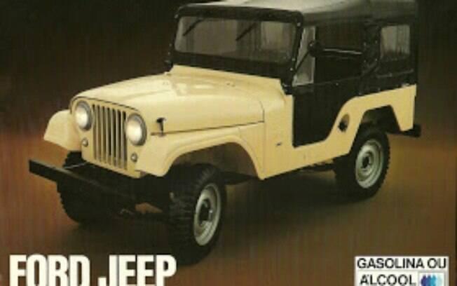 O utilitário Jipe era produzido pela Ford nas versões gasolina e álcool na fábrica de São Bernardo do Campo