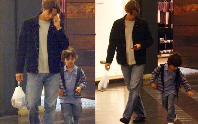 Vladmir Britcha e o filho assitiram o filme