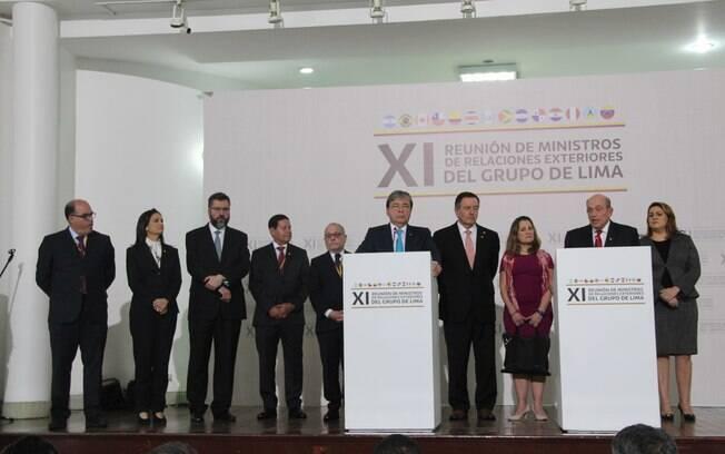 """Grupo de Lima pretende promover """"gestões"""" junto a organismos internacionais para promover a proposta de """"transição"""""""