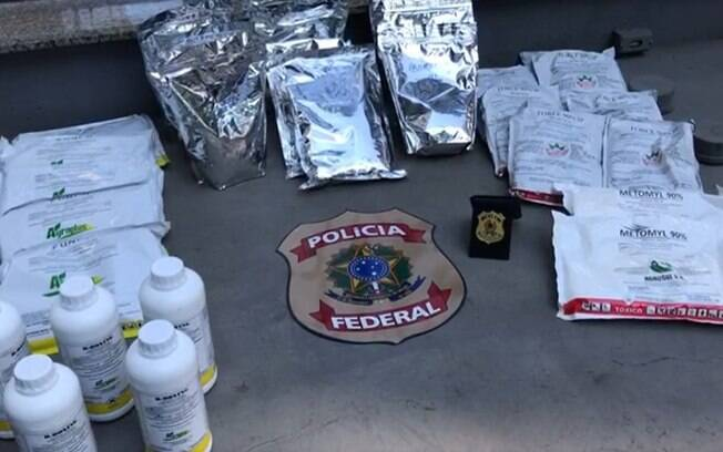 PF prende homem que vendida agrotóxicos contrabandeados