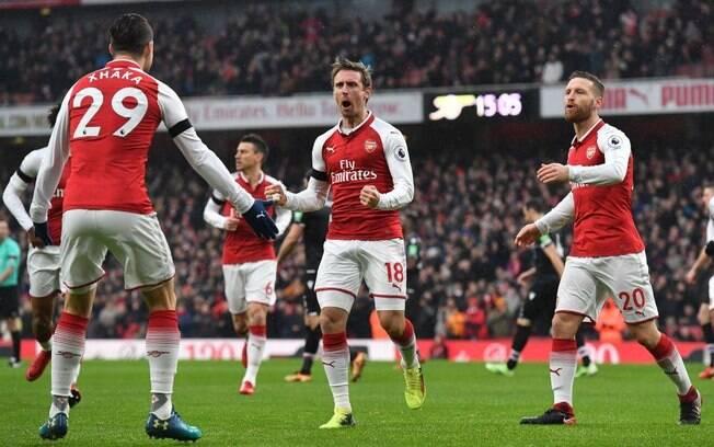 O Arsenal bateu o Crystal Palace por 4 a 1