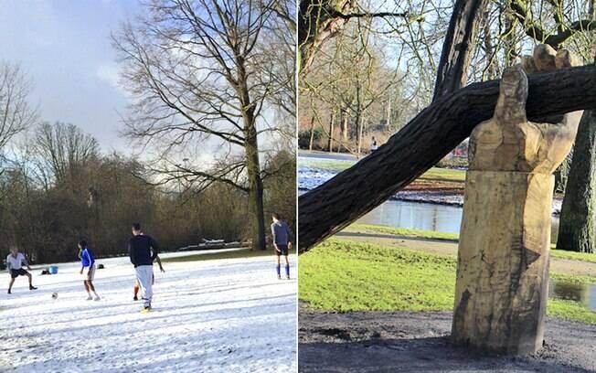 Mesmo sendo permitido transar no Vondelpark, o parque é muito familiar