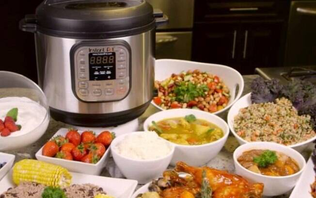 Instant Pot cozinha carnes, frangos, peixes e muito mais. Tudo de maneira higiênica, ágil e mais econômica