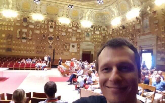 Congresso na Itália: numa das universidades mais antigas do mundo, na sala em que Galileu Galilei dava aulas