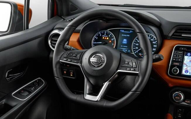Interior do novo Nissan March 2019