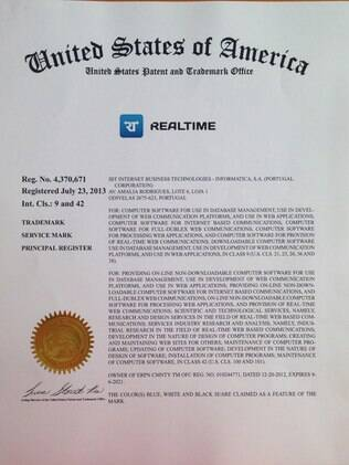 A tecnologia Realtime passou a ser marca patenteada e exclusiva da Internet Business Technologies, do grupo BRZTech