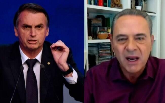 Bolsonaro ofende narrador da Globo
