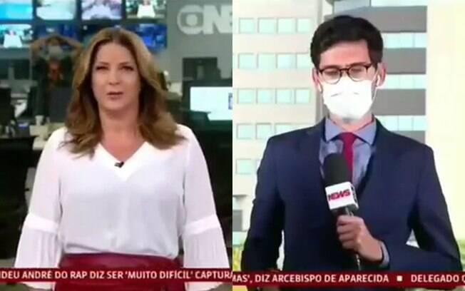Christiane Pelajo e Nilson Klava cometem gafe ao vivo na GloboNews