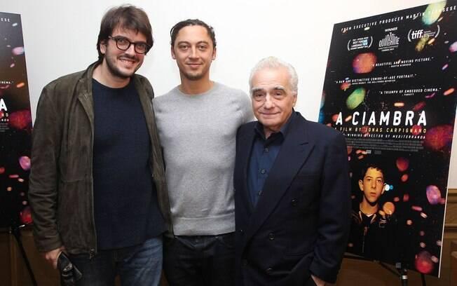 Rodrigo Teixeira, à esquerda, e Martin Scorsese, à direita, com quem o brasileiro está colaborando em um projeto para financiar novos diretores