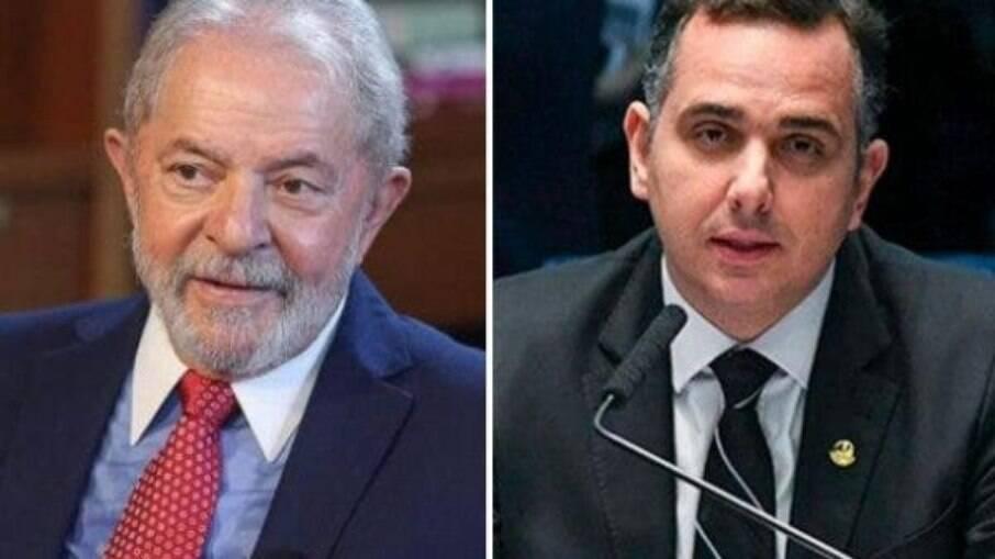 Ex-presidente Lula e senador Rodrigo Pacheco