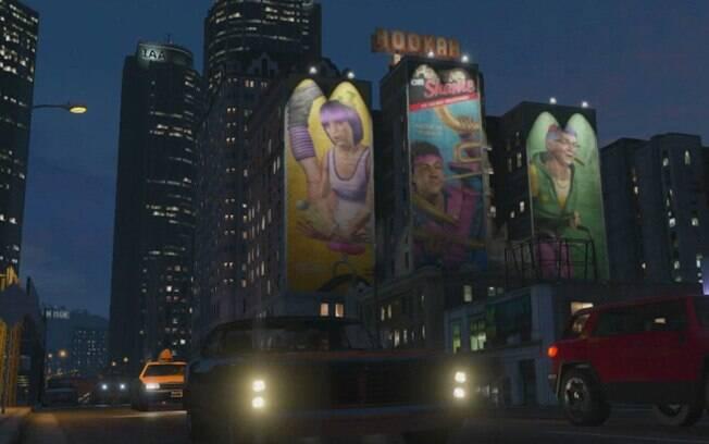 Grand Theft Auto On Vita : Prédios viram espaço para propagandas gigantes de games