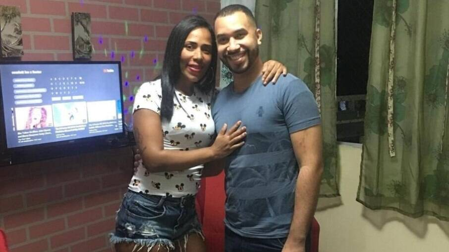 Gilberto e sua irmã, Janielly Nogueira