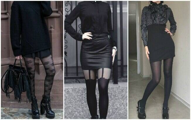 Meia-calça: total black