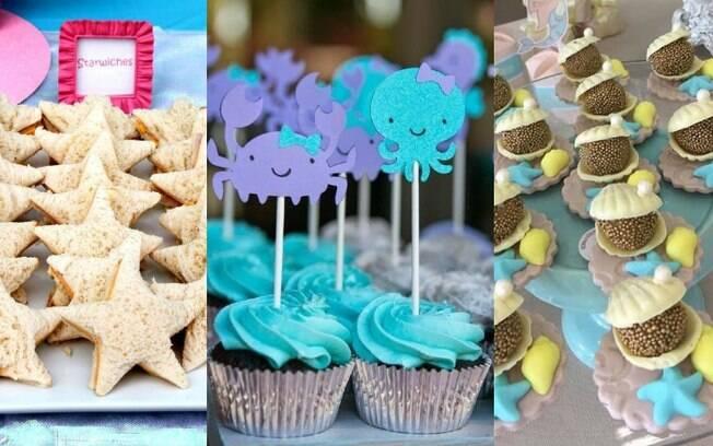 Comidas para a festa do fundo do mar também podem ser facilmente adaptadas para o tema do aniversário
