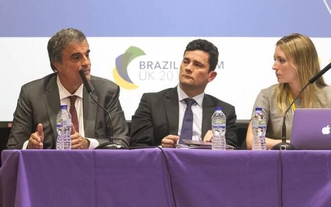 Eduardo Cardozo e Sergio Moro no Brazil Forum UK