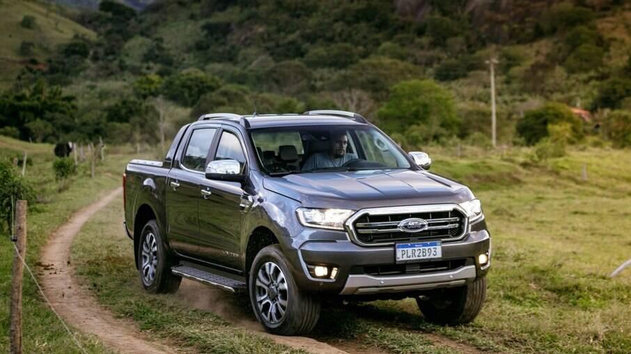 Ford Ranger teve a maior valorização entre as picapes médias, seguida pela Toyota Hilux e VW Amarok
